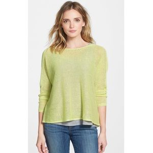NWT Eileen Fisher Organic Linen Boatneck Pullover